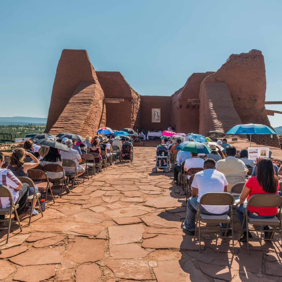 Pecos Feast mass photo